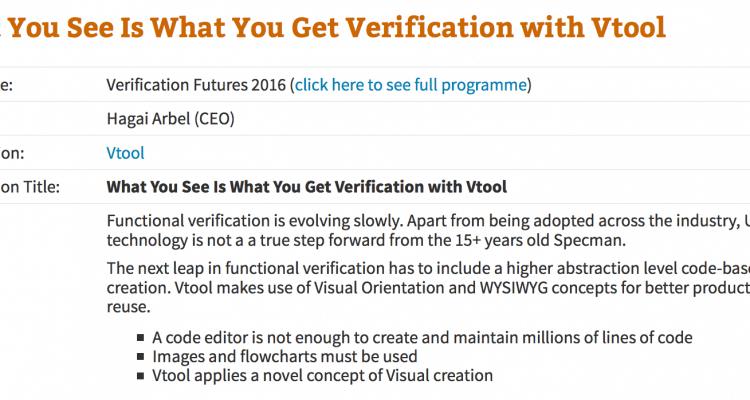 Vtool at Verification Futures